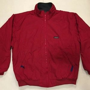 VTG Patagonia Red Bomber Jacket MADE IN USA Sz XL
